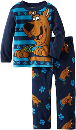 7a3aac9c52 Amazon.com  Scooby Doo Little Boys  2 Piece Fleece Sleep Set