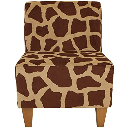 .com: parker lane uch-amanda-pon2 safari armless slipper chair ...