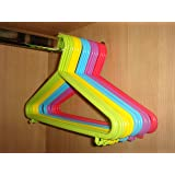 50 X CHILDRENS CLOTHES COAT PLASTIC HANGERS HANG BABY CHILD CHILDREN KIDS HANGING STORAGE by HK