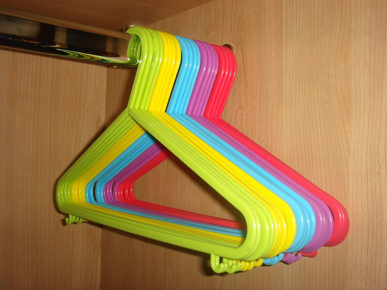 hk lot de 40 cintres en plastique pour v tements d 39 enfant ebay. Black Bedroom Furniture Sets. Home Design Ideas