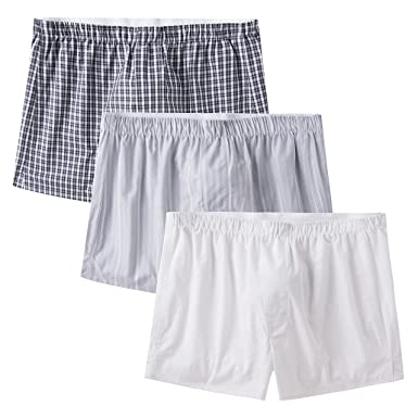 089ad9d1c617 CYZ Men's 100% Cotton Premium Classic Woven Boxers 3 Packs at Amazon Men's  Clothing store: