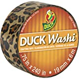 Duck Brand Washi Crafting Tape, 0.75-Inch by 240-Inch Roll, Single Roll, Wild Leopard (282679-S)