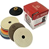 "Diamond Polishing Pads 4"" inch Wet/Dry Set of 11 + 1 Rubber Backer Pad 