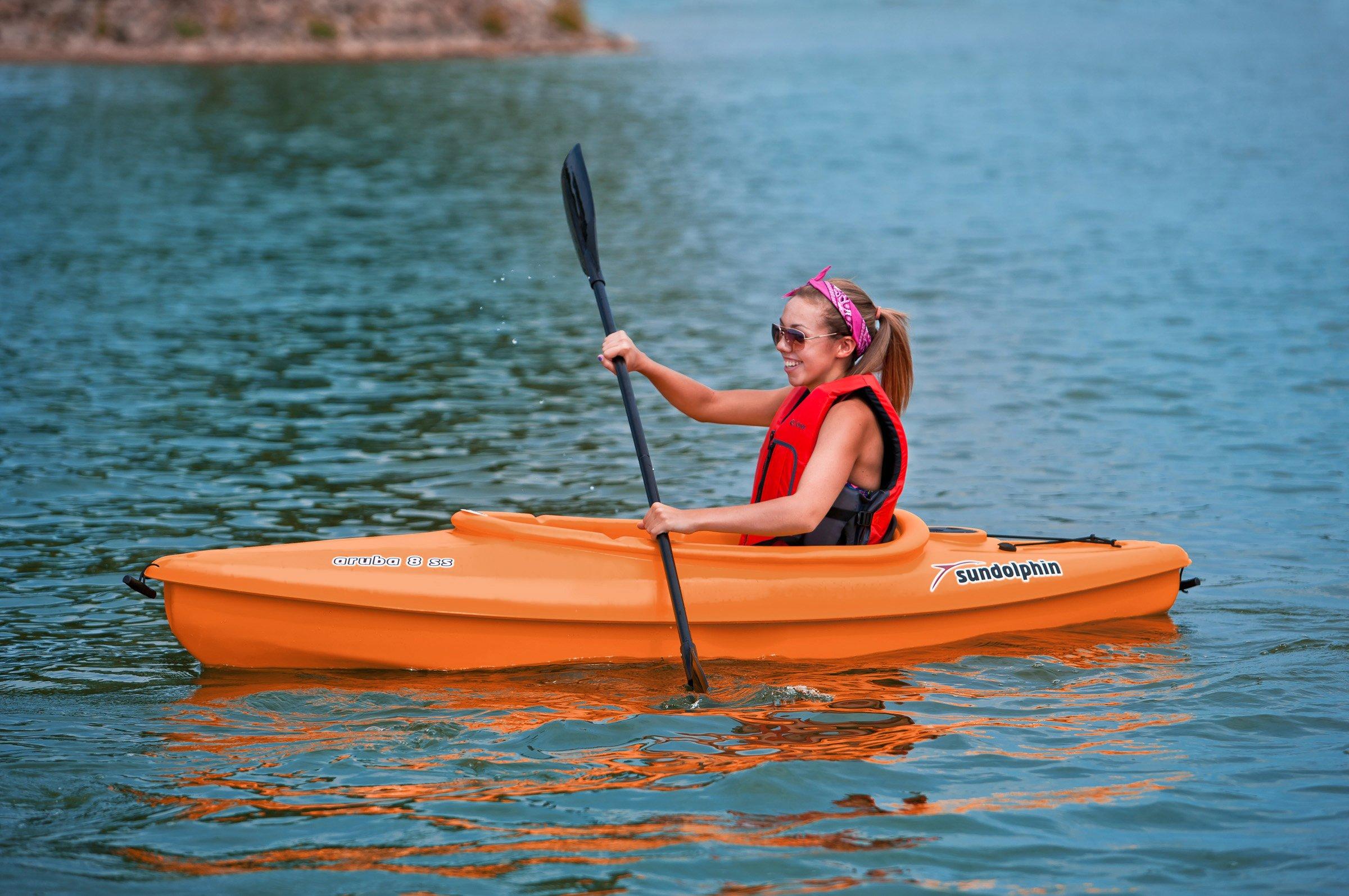 SUNDOLPHIN Sun Dolphin Aruba SS Sit-in Kayak (Tangerine, 8-Feet) by SUNDOLPHIN (Image #4)