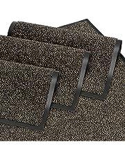 GadHome Doormat Door Mat for Front Door, Inside and Outside, Doormat, Door Mat for Entrance Areas, Cleaning Mat, Anthracite-Black