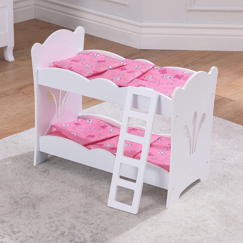 KidKraft 60130 Litera de madera Lil Doll para muñequitas de 45 cm, muebles para dormitorio de niños: Amazon.es: Juguetes y juegos