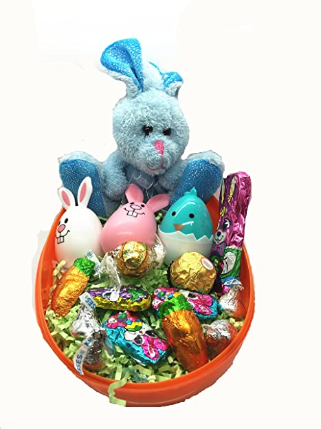 Amazon egg filled with easter egg filled with easter bunny3 eggs with hershey s kiss negle Image collections
