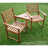 Hardwood Companion Seat Ascot Corner Love Seat Garden Bench Tete Tete Set Jack and Jill Exclusively by Your Price Furniture