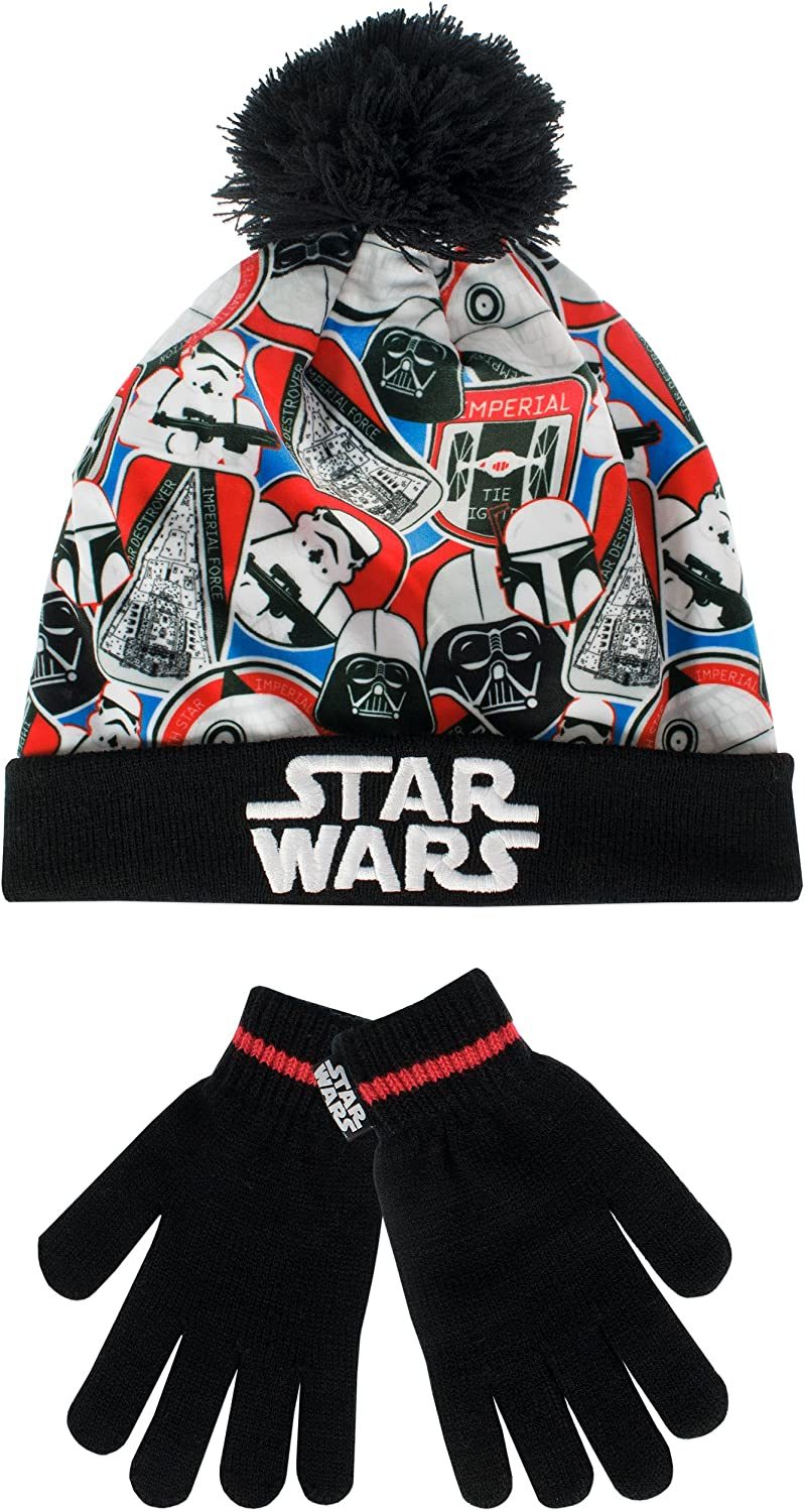 Boys Ages 1-4 Multicolor Star Wars Winter Hat and Glove Set