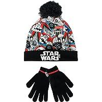 Star Wars - Conjunto de gorro y guantes para niño