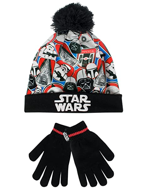 fc9fed7793b Star Wars Boys  Star Wars Hat and Gloves Set Multicolored One Size