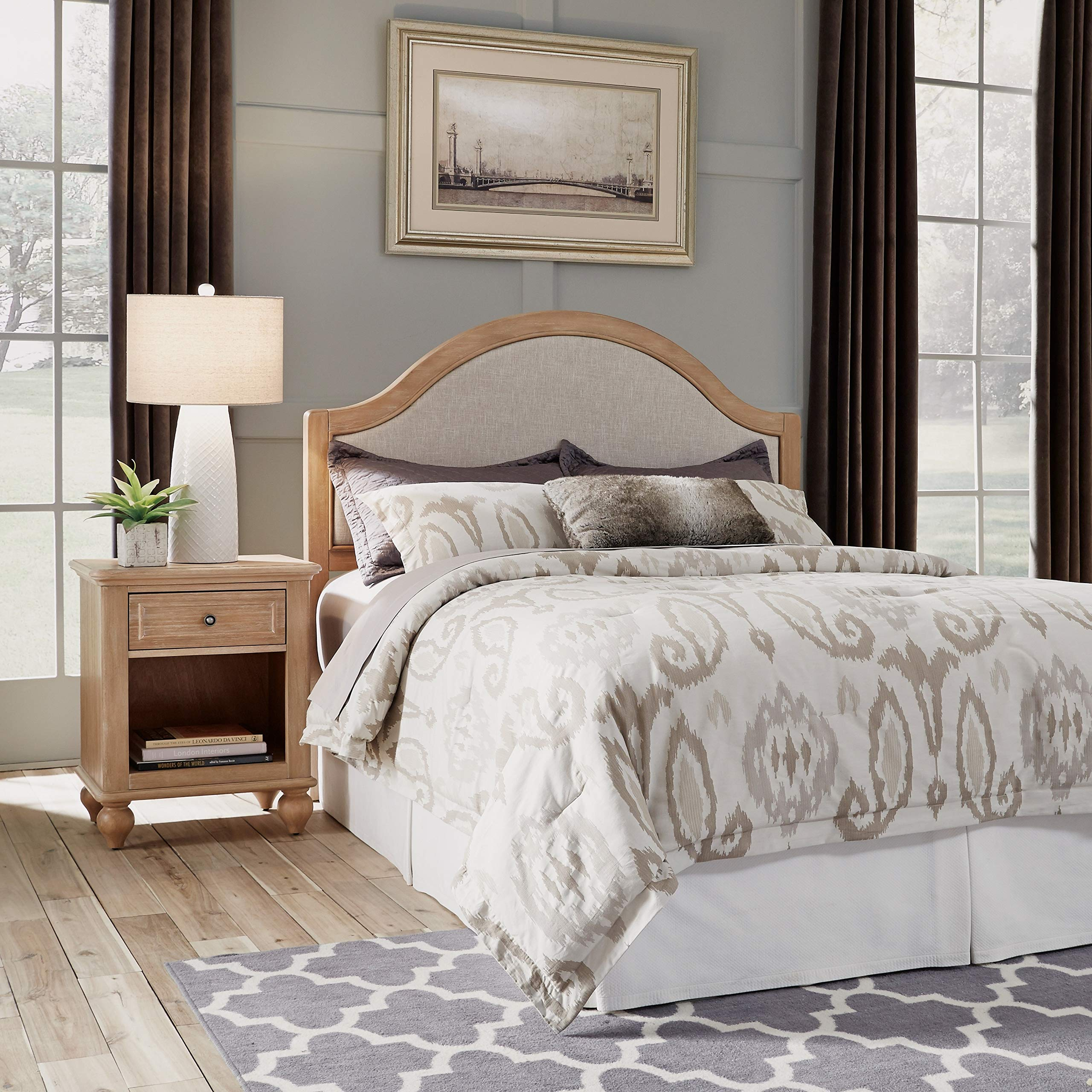 Cambridge Queen/Full Headboard Natural Country Wood Maple Finish by Unknown