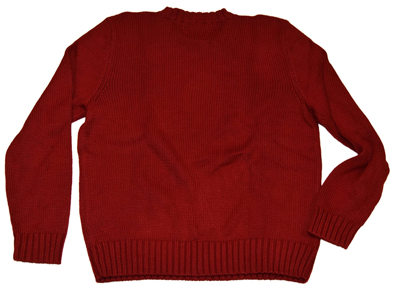 11d430e7920a9 Ralph Lauren Polo Mens Ribbed Cotton Crewneck Pullover Sweater Red Blue  Small at Amazon Men s Clothing store