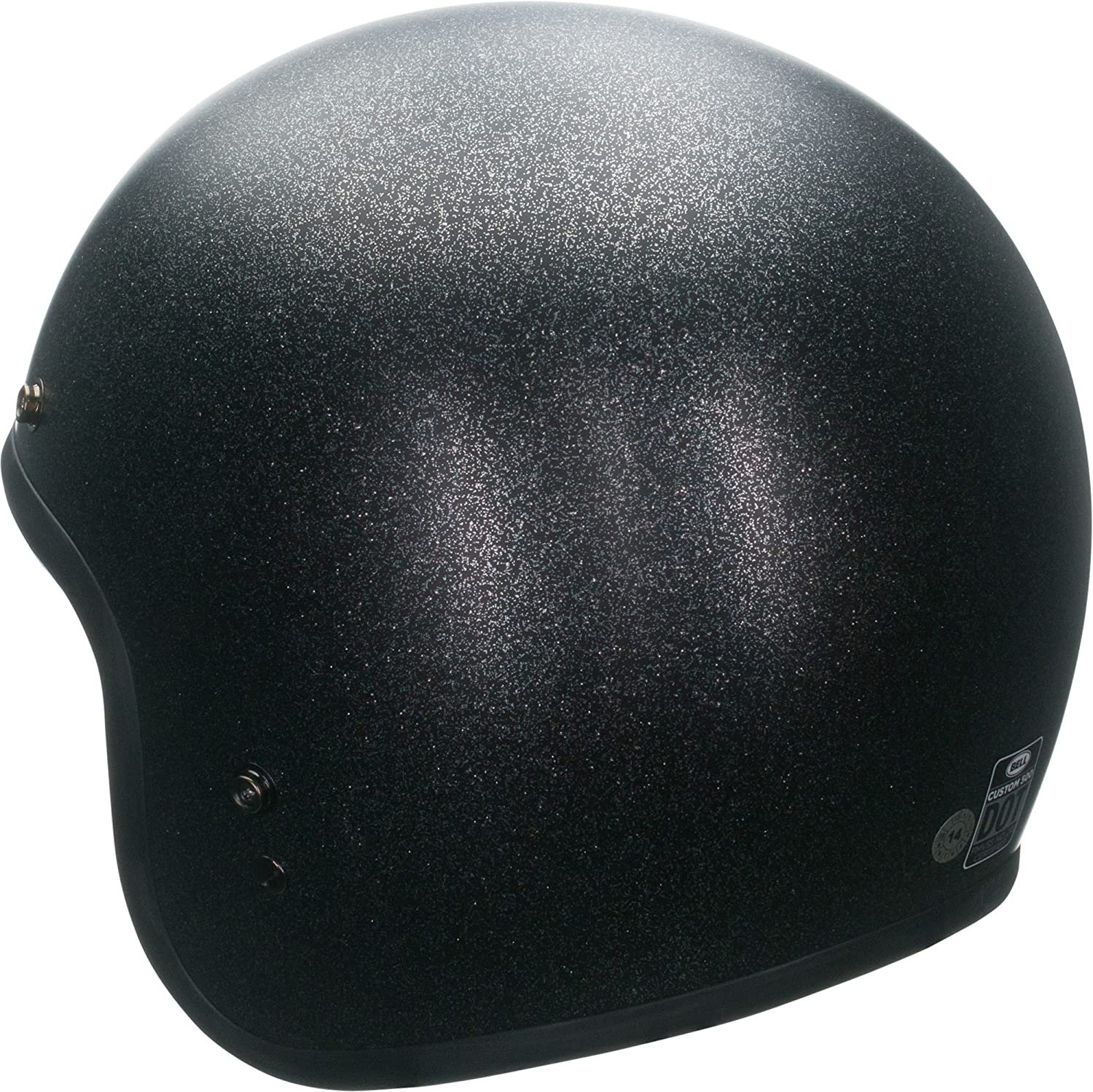 Amazon.com: Bell Custom 500 Open-Face Motorcycle Helmet(Solid Matte Black Flake, X-Large): Automotive