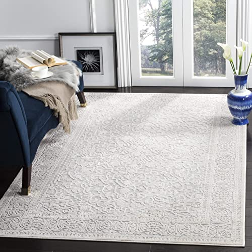 Safavieh Reflection Collection RFT670C Light Grey and Cream Area Rug 6 x 9