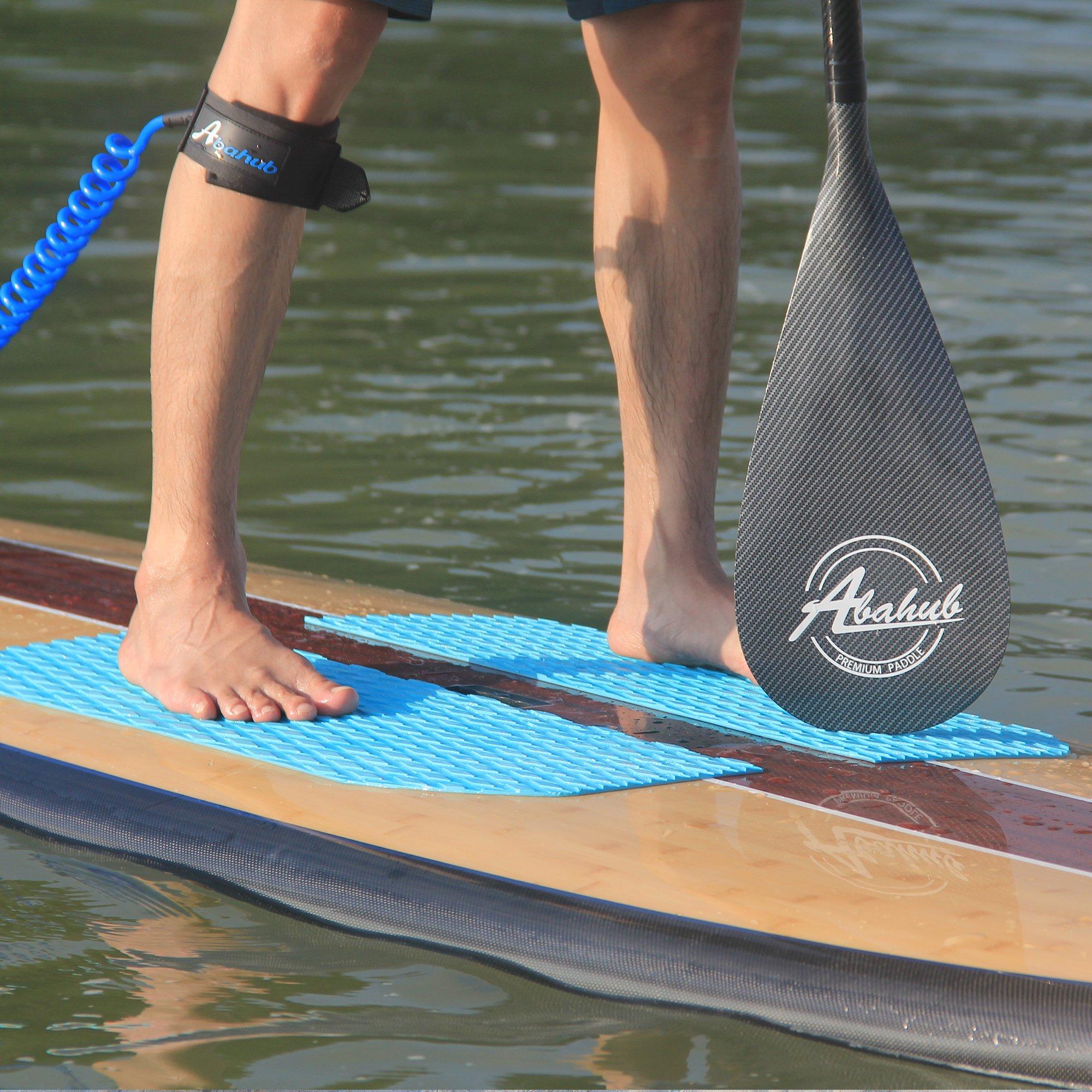 ABAHUB 3-Piece Adjustable Carbon Fiber SUP Paddle Carbon Shaft Carbon Print Plastic Blade + Bag by ABAHUB (Image #3)