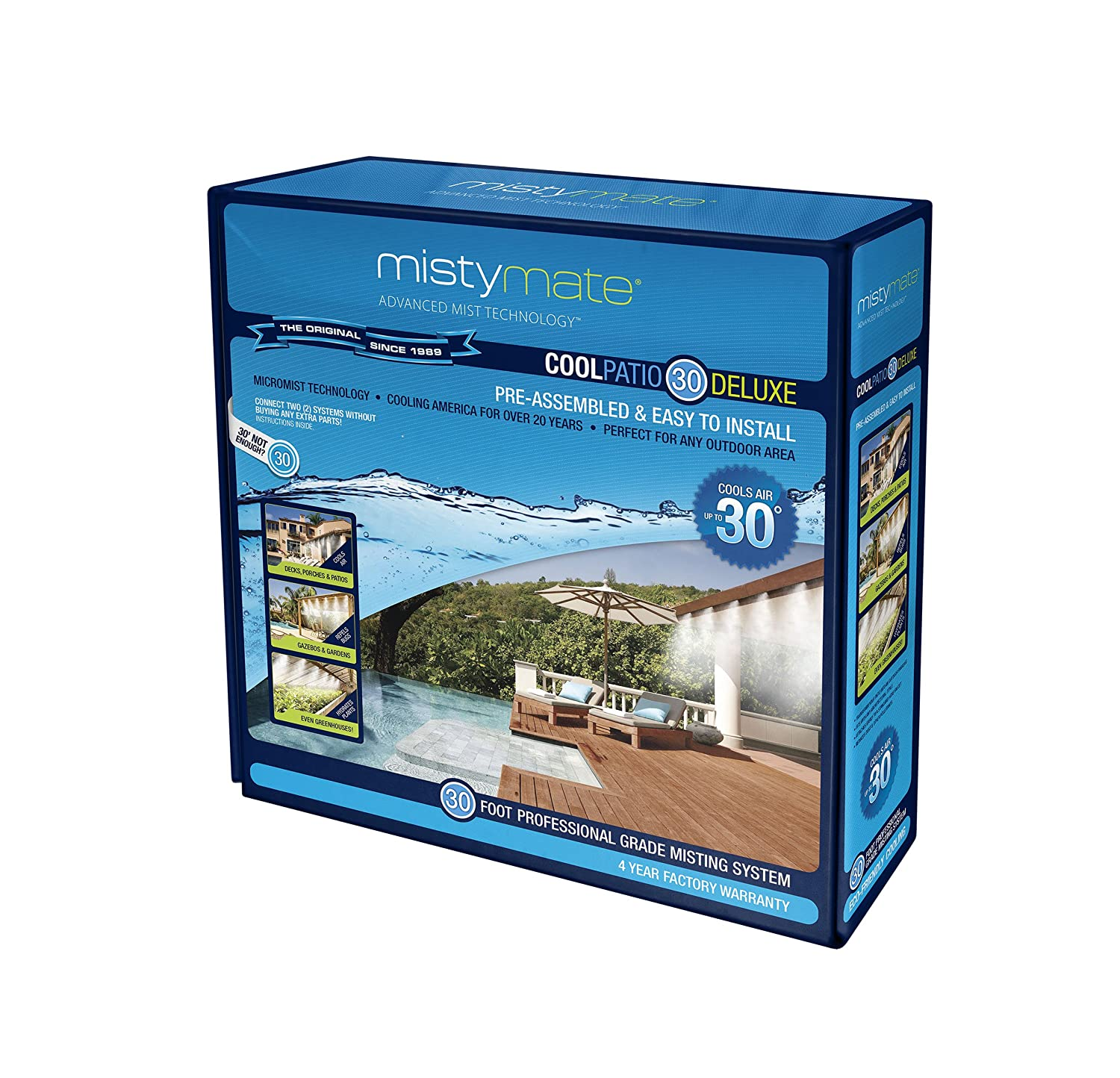 amazoncom mistymate 16031 cool patio 30 deluxe outdoor misting kit garden outdoor - Patio Misting System