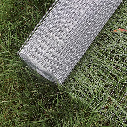 WilTec Malla Alambre metálica gallinero Cierre metálico galvanizado Rollo 1mx10m mallado 19x19mm Jardín: Amazon.es: Productos para mascotas