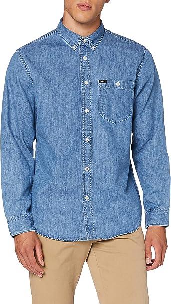 Lee Riveted Shirt Camisa, Azul (Sky Blue Nr), Small para Hombre: Amazon.es: Ropa y accesorios