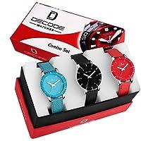 Decode Amazing Ladies Multi Combo of 3 Watch (WX505) for Girls/Women