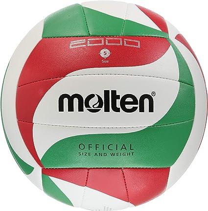 MOLTEN V5M2000 - Pelota de Voleibol Weiß/Grün/Rot Talla:5: Amazon ...