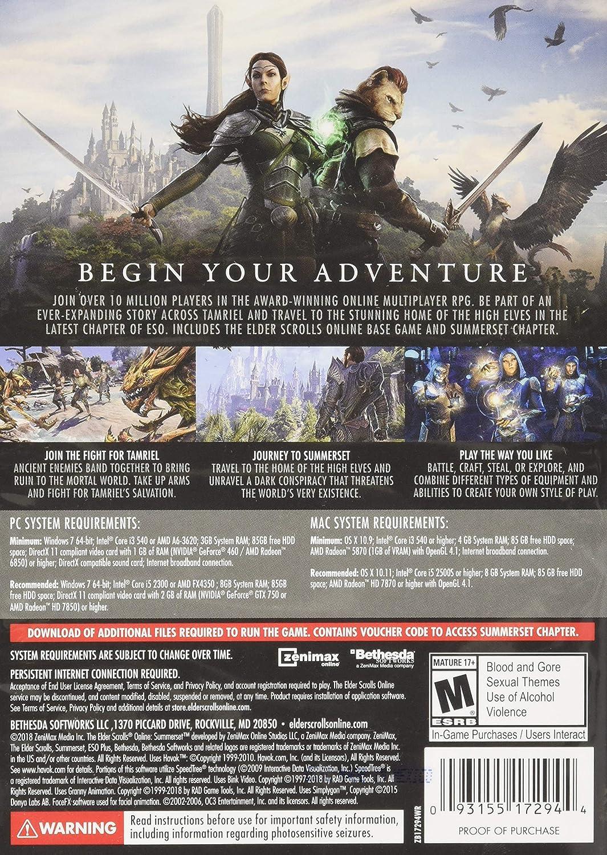Amazon com: The Elder Scrolls Online: Summerset - PC: Video Games