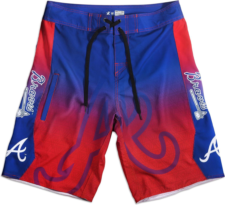 FOCO KLEW MLB Atlanta Braves Gradient Board Shorts