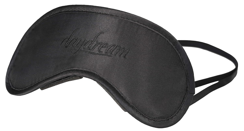daydream Schlafmaske Frauen & Herren - Schlafbrille und Augenmaske inkl.  gratis Kühlkissen, Schwarz Basic