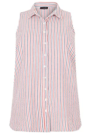 d7ddecccfb Yours Women s Plus Size Red   Striped Sleeveless Shirt