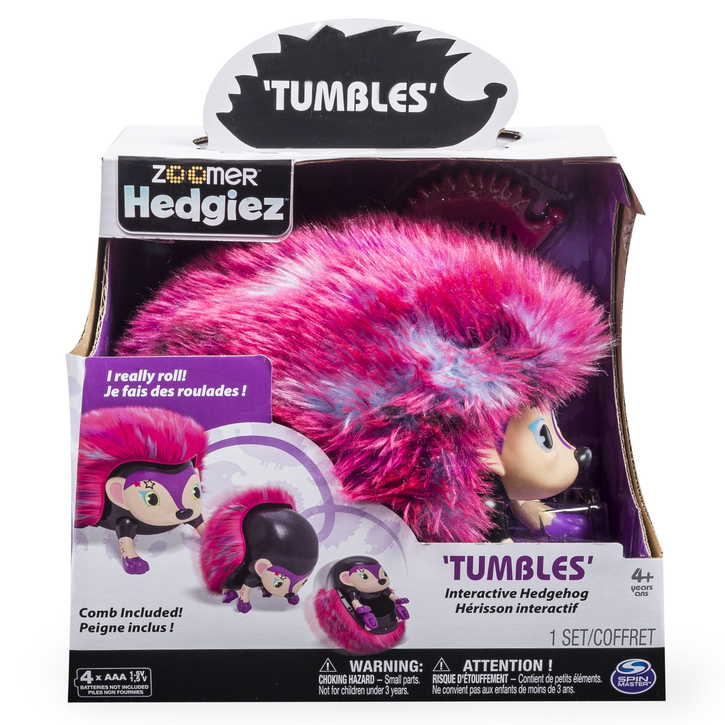 Zoomer Hedgiez,Tumbles, Interactive Hedgehog with Lights, Sounds and Sensors, by Spin Master by Zoomer (Image #4)