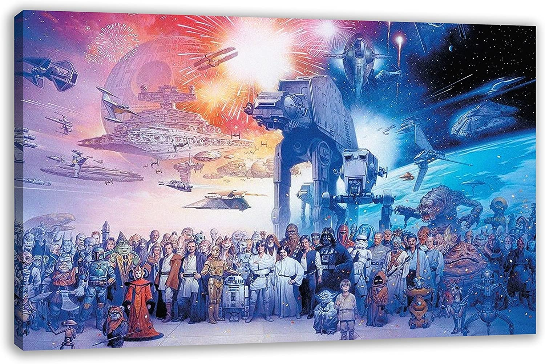 FORCE AWAKENS Canvas Wall Art Print Various Sizes STAR WARS MILLENIUM FALCON