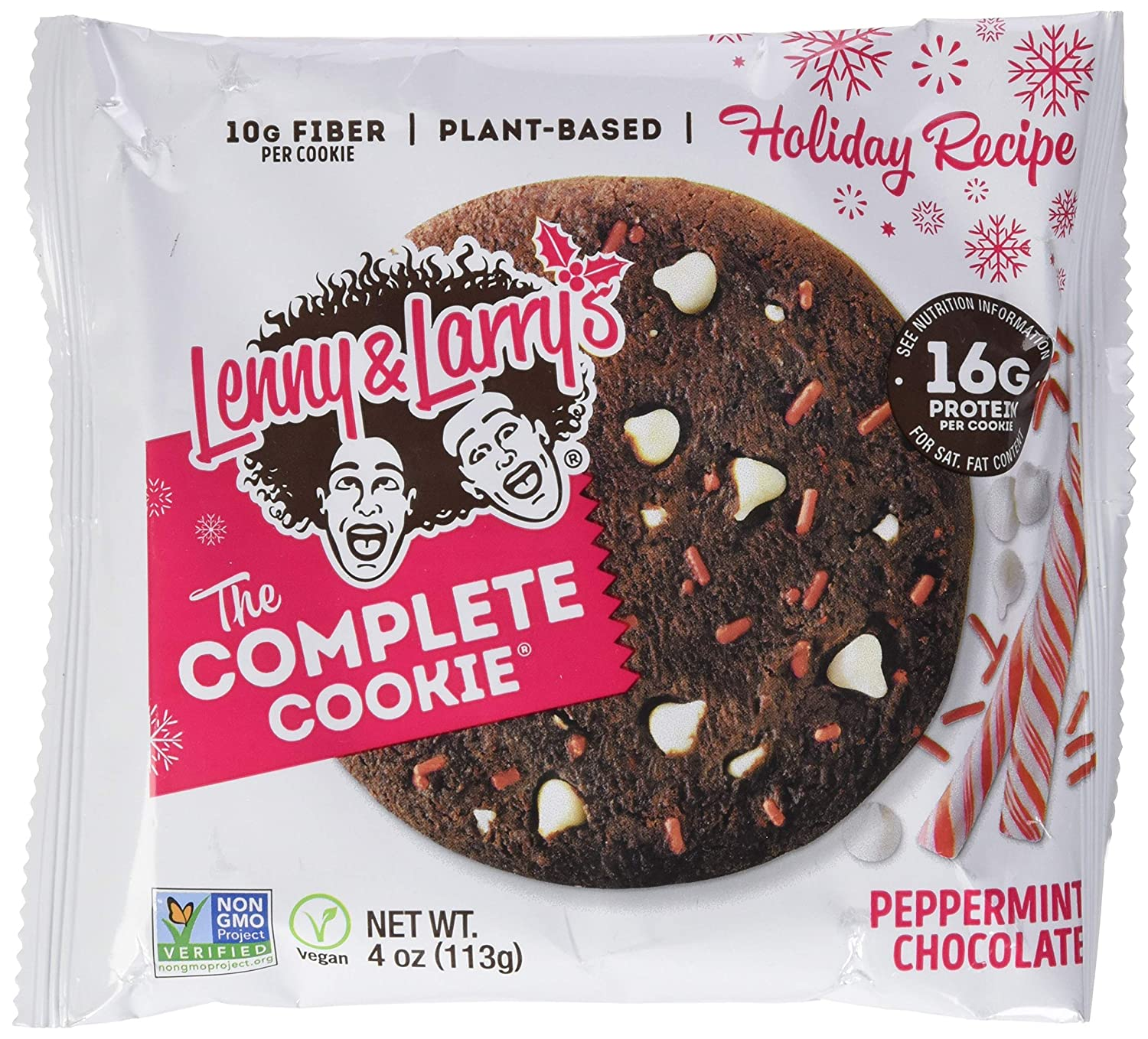 LENNY & LARRYS Peppermint Chocolate Complete Cookie 12 Count, 4 OZ