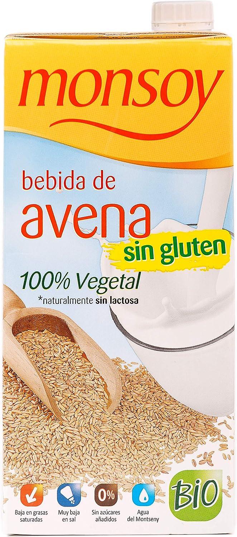 Monsoy - Bebida Ecológica de Avena sin Gluten - Caja de 4 x 1L ...