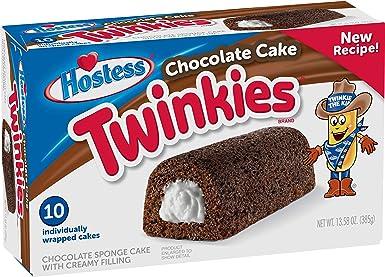 Hostess Twinkies Chocolate Cake - Creamy Filling - 10 Pack ...