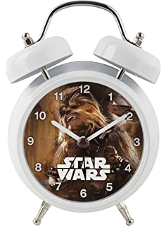 Star Wars Chewbacca Talking Twin Bell Alarm Clock, White