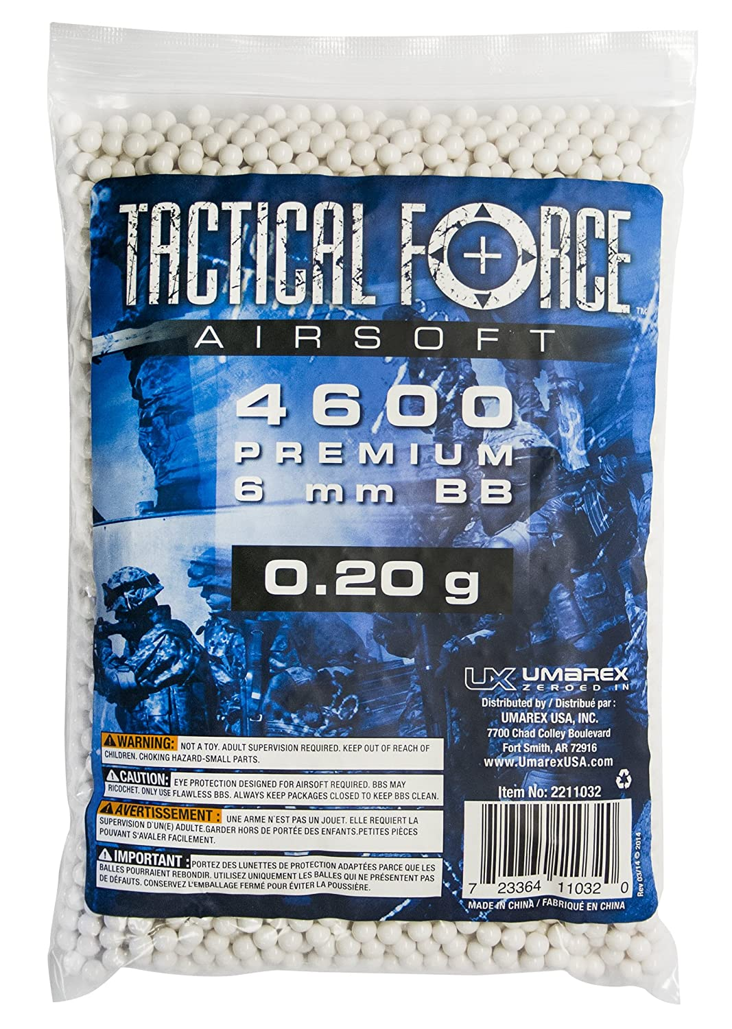 Tactical Force Premium Airsoft BB 0.25g//6mm