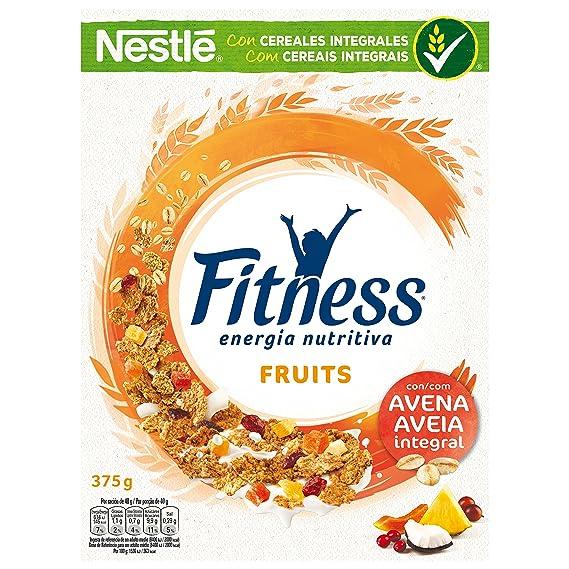 Nestlé Fitness - Cereales de Trigo Integral y Arroz Tostados con Frutas - 375 g