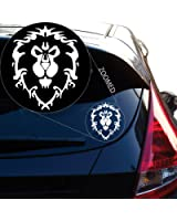 "World of Warcraft Alliance Decal Sticker for Car Window, Laptop and More. # 817 (4"" x 3.1"", White)"