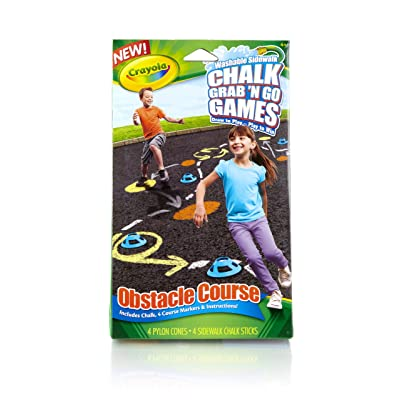 Crayola Obstacle Course Chalk Grab and Go Games: Toys & Games