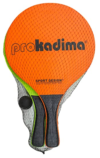 Pro Kadima Paddle Ball Set (Assorted Colors) (Neon Orange/ Green)