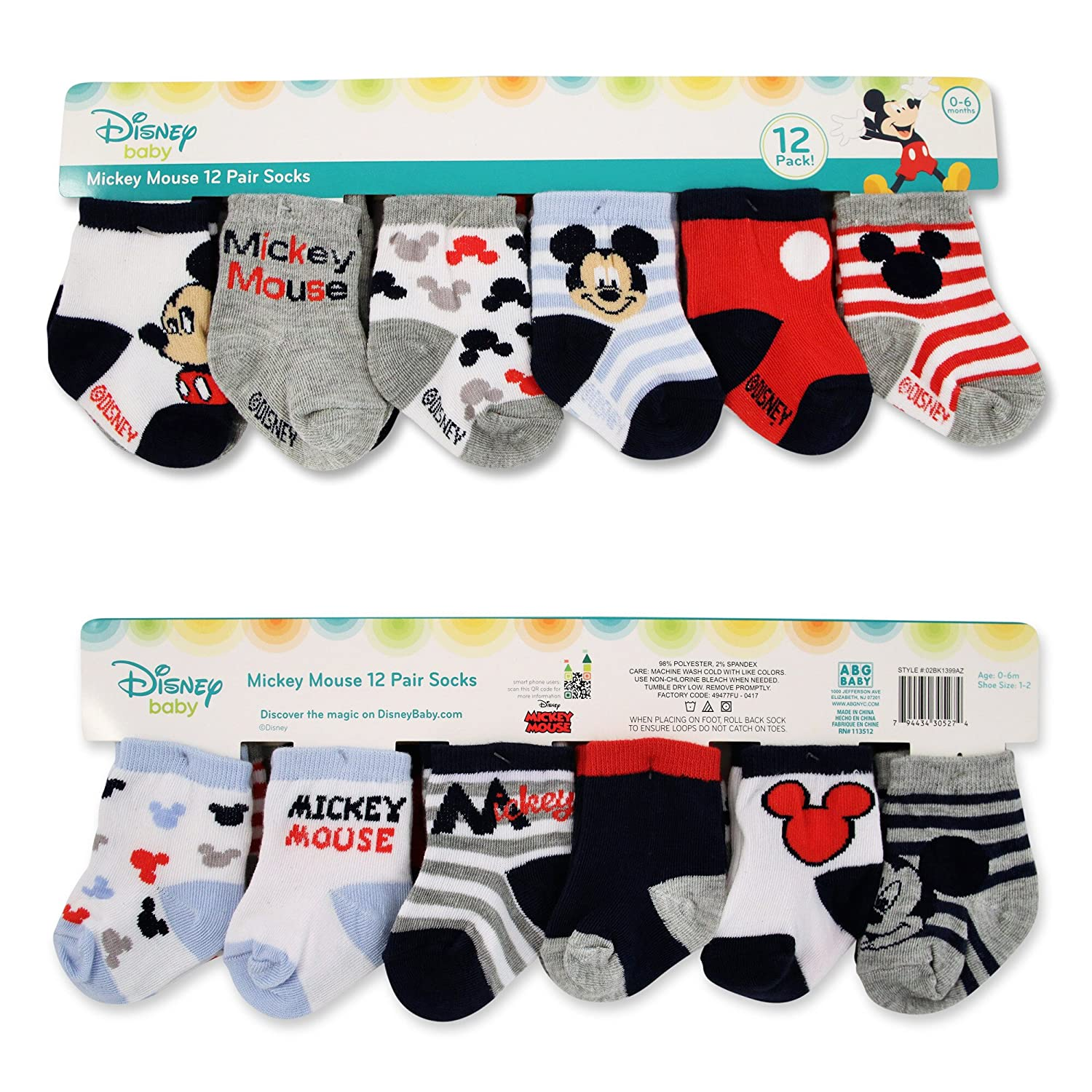 Amazon Com Disney Baby Boys Mickey And Minnie Mouse Assorted Color