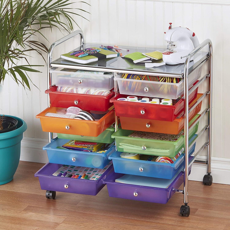 6-Drawer verschiedene Farben ECR4Kids Mobiler Veranstalter mit Schubladen 1