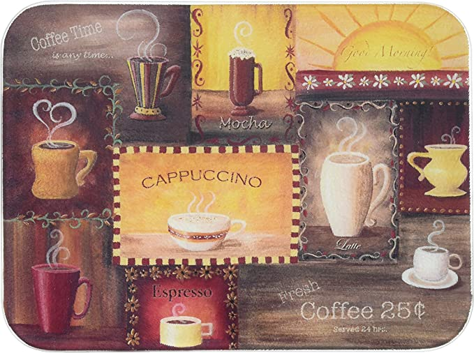 Glass cutting board Coffee shop decor Spilled coffee beans Decorative glass panel Counter top art Kitchen coffee bar decoration