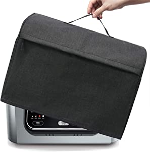 BGD-DG Dust Cover with Pockets Compatible with Ninja Foodi Pro 5-in-1 Indoor Grill & Ninja Foodi 5-in-1 Indoor Grill, Machine Washable, Black (Updated Size)