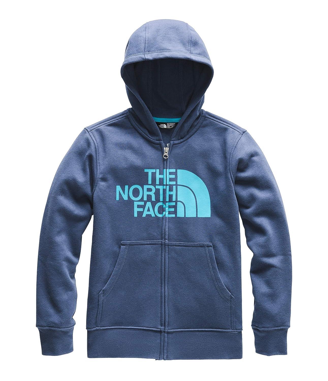 Shady Blue Medium The North Face Kids Boys Logowear Full Zip Hoodie Little Kids//Big Kids