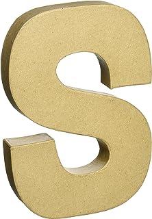 paper mache letter 8x5 12 letter s