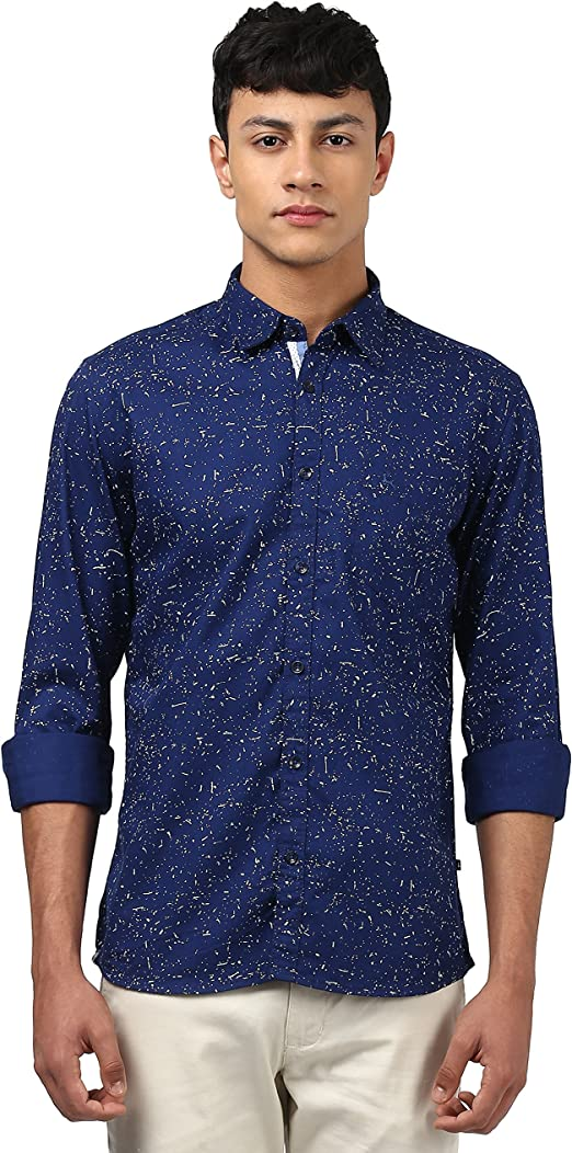 Parx Men's Plain Slim Fit Casual Shirt Men's Casual Shirts at amazon