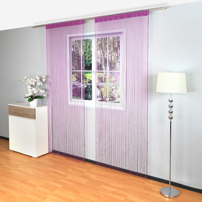 gräfe stayn cortina de hilos (90 x 240 cm, con barra de tracción ...