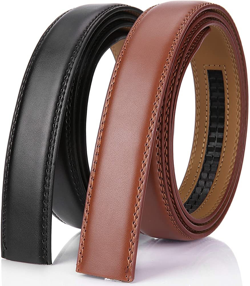 Gift Box Marino Avenue Men/'s Genuine Leather Ratchet Dress Belt with Linxx Buckle