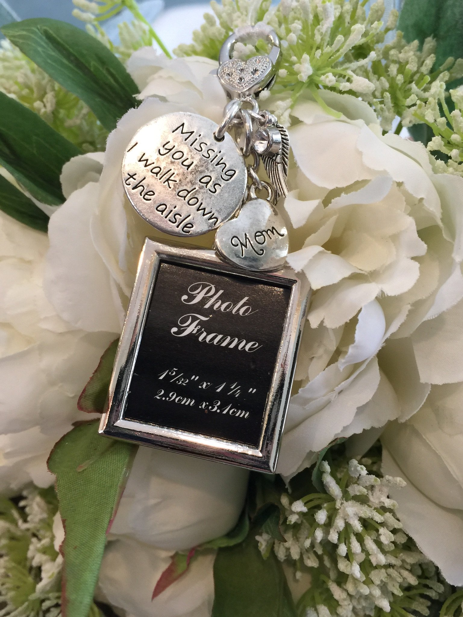 Harper Olivia Bridal Bouquet Photo Charm Missing You As I Walk Down